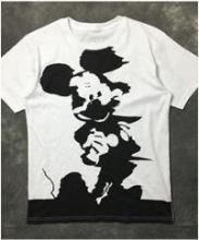 アレキサンダー マックイーン tシャツ alexandermcqueen ミッキープリントクルーネックネックメンズ 半袖Tシャツ ホワイトコットン