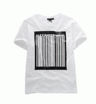 春夏肌に優しい綿生地のALEXANDER WANG アレキサンダーワン バーコード ショート スリーブ Tシャツ 半袖 609008S17