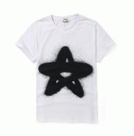 春夏品質保証得価ACNE アクネ tシャツ 半袖 丸首 星柄 プリント 綿 コットン 速乾 2色可選