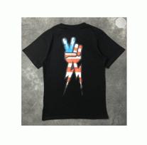 春夏お買い得新品NEIL BARRETTニールバレット PEACE BOLT  Tシャツ 半袖 プリント 2色可選 男女兼用
