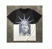 春夏超激得定番NEIL BARRETTニールバレット 通販 切替 配色  綿 コットン アメカジ 個性  プリント Tシャツ 半袖 男女兼用