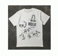 春夏爆発的通販MOSCHINO モスキーノ tシャツ コピー クルーネック ロゴプリント カットソー カジュアル 綿100% 半袖