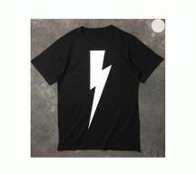 HOT人気セール春夏NEIL BARRETT ニールバレット Bolt print Tシャツ PBJT198D E513S 526 半袖 2色可選 男女兼用