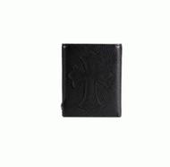 人気セール安いCHROME HEARTS クロムハーツ 財布 レザー 牛革 ロゴ 小銭入れあり 多機能 ミニ 二つ折り財布