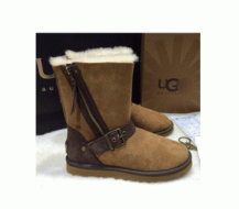 秋冬激安大特価新品UGG アグ ムートンブーツ スエードブーツ サイドジップ ファスナー 裏ボア 裏起毛 靴 防寒 2色可選