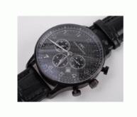 人気セール低価アイダブリューシー IWC コピー ポルトギーゼ ラウンドフェイス 日付表示 レザーベルト 腕時計 40MM