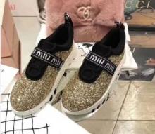 ミュウミュウ MIUMIU 切りっぱなし 多色可選 2018春夏新作スニーカー、靴