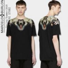 春夏限定セール最新作MARCELO BURLONマルセロバーロン tシャツ 偽物メンズ白黒カジュアルトップス2色可選