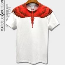 春夏人気セール安いMARCELO BURLONマルセロバーロン tシャツ コピーフェザープリント白黒ユニセックス半袖