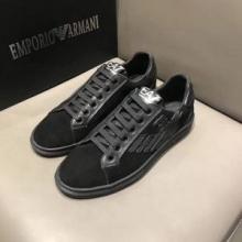 2018人気定番新品ARMANIアルマーニ スニーカー コピー 通販メンズ靴軽量レースアップカジュアルシューズ黒