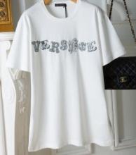 2019夏真っ盛りの今 ヴェルサーチ コピーVERSACE  Versace printed t shirt新作 人気 コーデ メンズ コットン 半袖 服 着こなし 白