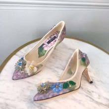 Dolce&Gabbana ドルチェ&ガッバーナ コピー プリント エナメル ブローチ パンプス歩きやすい 素敵 新作 プレゼント