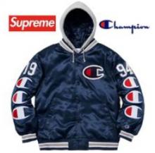 Supreme Champion Hooded Satin Varsity Jacket AW 18 WEEK 7着こなしおすすめジャケット シュプリーム 激安 エレガント男女兼用