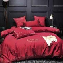 2019 AW高品質優しいイメージに CARTIER カルティエ コピー ブランド 寝具 人気ランキング おすすめ 布団カバーセット 結婚式 赤