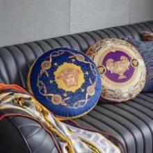 円形クッションおすすめ北欧スタイル 座布団 VERSACEヴェルサーチコピー肌ざわりの良い スタイリッシュ プレゼント 人気色
