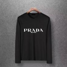PRADA 長袖tシャツ 秋冬コーデを上品に取り入れるモデル プラダ 服 メンズ コピー ロゴ シンプル 多色選択可 ブランド 最安値