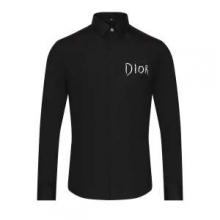 シャツ メンズ ディオール 落ち着き感と大人感が漂うアイテム 2019新作 DIOR コピー ブラック ホワイト ロゴ ブランド 品質保証